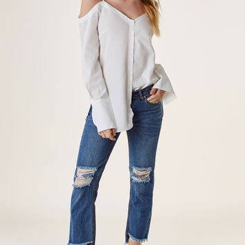 Bare Your Shoulders Button Down