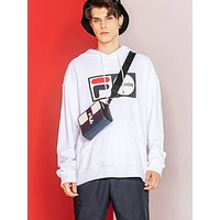 FILA FUSION Fashion Women Men Casual Print Hoodie Sweater Sweatshirt Top