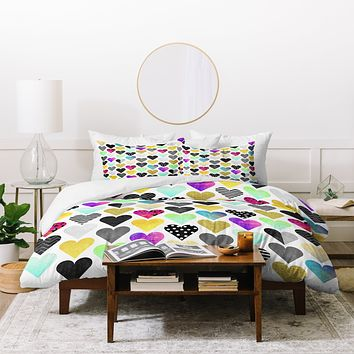 Elisabeth Fredriksson Happy Hearts Duvet Cover