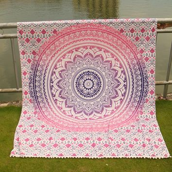 Home Tapestry Bohemian Tassels Blanket Yoga Mat Summer Beach Mat Picnic Throw Rug Blanket Camping Mattress Sleeping Pad Mat