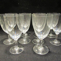 Crystal Cordial  Glasses, Crystal Stemware, Barware, Set of 10    (1533)