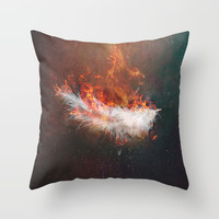 Icarus Throw Pillow by HappyMelvin