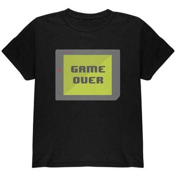 PEAPGQ9 Halloween Old School Gamer Game Over Youth T Shirt