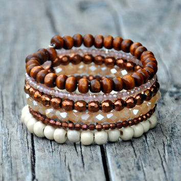 Natural Sparkle Boho Wrap Bracelet