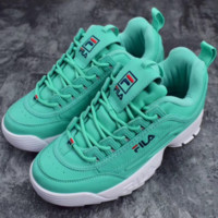 FILA Women Fashion Casual Running Sport Casual Shoes Sneakers Green G-SLXM-YJDF