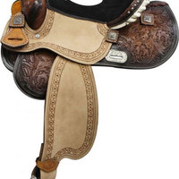 Saddles Tack Horse Supplies - ChickSaddlery.com Double T Barrel Style Saddle With Brushed Nickel Barrel Racer Conchos