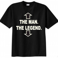 The Man The Legend T-shirt Funny Humor Retro Adult Tee