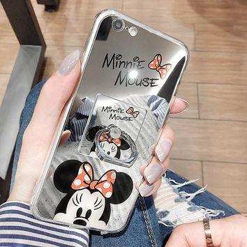 Cartoon animation mirror mobile phone case  for iphone 6 6s 6plus 6s plus 7 7 plus