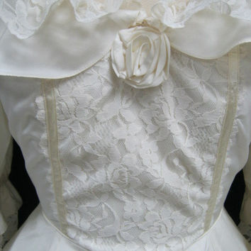Vintage 80s Wedding Dress Copy Of PRINCESS DIANA's Gown SMALL/Petite