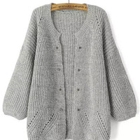 Bishop Sleeve Knitted Cardigan