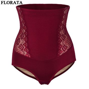 FLORATA 2017 New High Waist Women Control Panties Sexy Body Shaper High Elastic Slimming Shapewear Waist Corsets