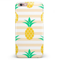 Pineapple Over Apricot Stripes iPhone 6/6s or 6/6s Plus INK-Fuzed Case