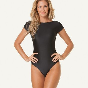 SOLID BLACK DUDA ONE PIECE | V i X Paula Hermanny