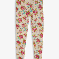 Rose Print Leggings | FOREVER 21 - 2057995034
