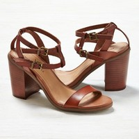 AEO Strappy Stacked Heel Sandal