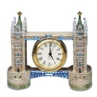 2.75 Inch London England Brick Tower Bridge Shaped As Mini Clock