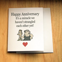 Anniversary Card, Card For Wife, Card For Husband, Naughty Card, Strangulation, Funny Card, Adult Humor, Sarcastic Card, Funny Love Card