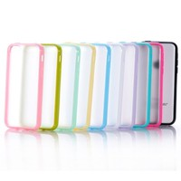 OMIU(TM) 3-Pieces(Yellow/Light Pink/Mint Green)Ultra Slim Snap-On Clear Back Skin Case Cover Fit for Apple iPhone 5C