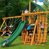 Playnation Royal Clubhouse Deluxe Wooden Swing Set