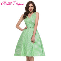 Polka dot dress Belle Poque vintage rockabilly dresses 2017 Summer Audrey Hepburn Vestidos party 50s dresses vestidos female