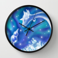 Dragonair Wall Clock by Susaleena