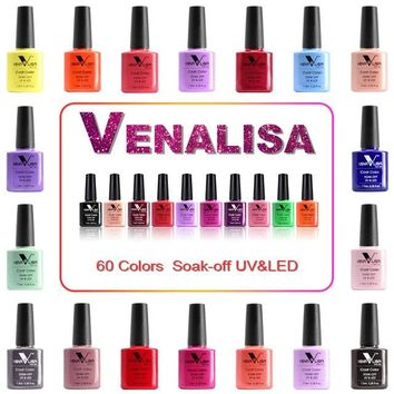 HOT #61508 Nail Factory Supply Venalisa Nail Art Design 60 Color Soak Off UV Gel Paint Lacquer Nail Polish UV Nail Varnish Gel