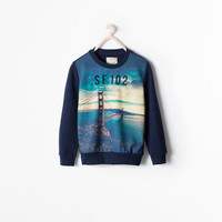 San francisco printed sweater