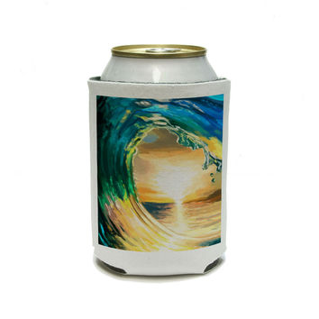Ocean Wave Sea - Beach Sunset Can Cooler Drink Insulator Beverage Insulated Holder