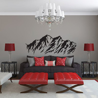 Mountain Range Vinyl Wall Decal Sticker Graphic