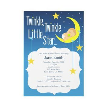 Twinkle Twinkle Little Star Baby Shower Invite from Zazzle.com