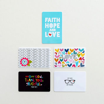 Illustrated Faith Paint It Cards - For applying paints during bible journaling- Great gift for Bible journaling and scrapbooking enthusiasts
