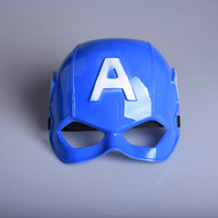 Superhero Captain America Mask children's day gift Halloween Masquerade Costume Cosplay Party Favor half Face PVC Cartoon Mask