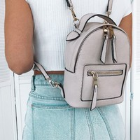 Zoe Mini Backpack Nude