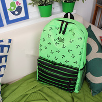 Anchor and Stripes Backpack Green