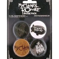 My Chemical Romance - Black Parade Badge Pack - Buy Online at Grindstore.com
