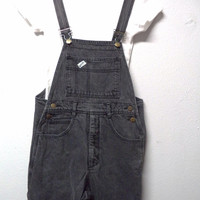 Vintage 80's Guess faded Black  Denim Overalls  - Size Small