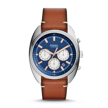 Drifter Chronograph Light Brown Leather Watch - $135.00