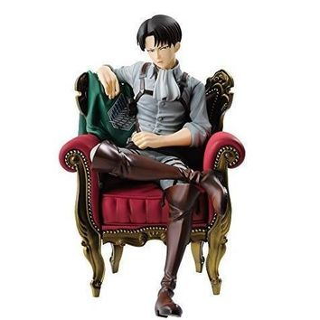 Cool Attack on Titan  Levi Action Figure 1/8 scale painted figure Sitting Sofa Ver. Levi Akerman PVC figure Toy Anime 12CM AT_90_11