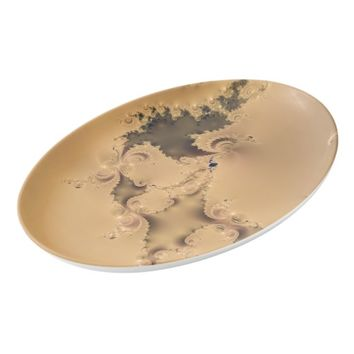 Super Unique Antique Gold Porcelain Serving Platter
