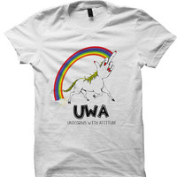 Unicorn T-shirt Unicorns With Attitude UWA Shirts Funny Shirts Gifts For Teens Ladies Shirts Cool Gifts Birthday Gifts Christmas Gifts Teens