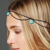 Free People Turquoise Bead Chain Halo