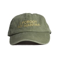 I Forgot My Mantra Embroidered Cap