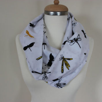 Dragonfly Print Scarf, Dragonfly, Gift For Her, Star Print Scarf, Women Accessory, Women Scarf, Dragonfly Pattern Scarf, Dragonflies,For Her