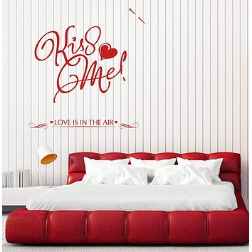 Large Vinyl Decal Wall Sticker Note Kiss Me Love Lettering Decor Unique Gift (n809)