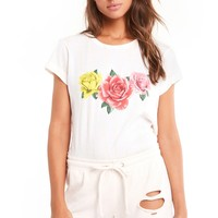 Triple Rose No9 Tee - Wildfox