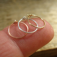 Super Thin Plain Nose Ring Set Silver, Gold & Pink Gold