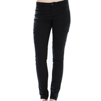Solid Color Low-Rise Skinny Pants