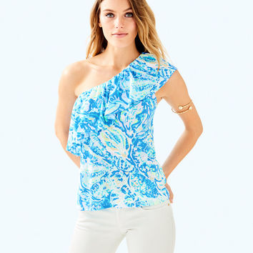 Matteo One Shoulder Top | 29279-bennetbluesaltyseas | Lilly Pulitzer