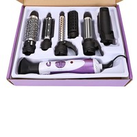 New 7 in 1 Multifunction Hair Brush Styler Blow Hair Curler Wand Straightener Curling Iron Salon Styling Equipments EU Plug 220V