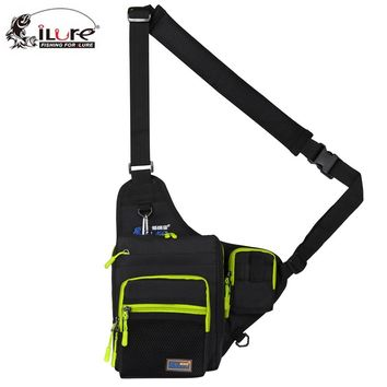 Ilure Multi-Purpose Canvas Fishing Bag Lure Fishing Tackle Angler's Bag Backpack for Fishing Gear 5 Color Available